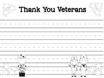 Veterans Day Freebies (Mini Fact Booklet and Thank You Writing Page)