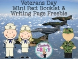 Veterans Day Freebies (Mini Fact Booklet and Thank You Wri