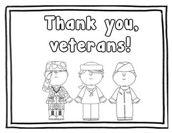 Veteran's Day Freedoms Booklet (Black & White)