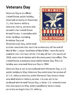 Veterans Day Handout