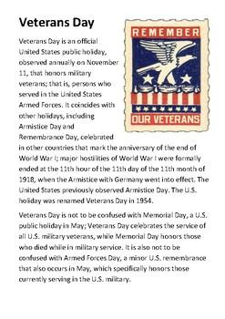 Veterans Day Handout