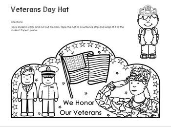 Veterans Day Hat - Kindergarten to 2nd Grade