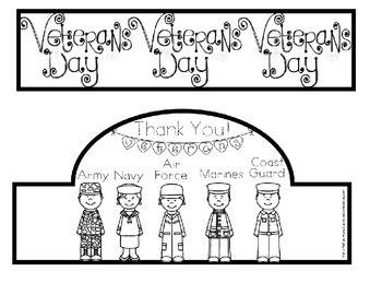 Veterans Day Headband Hat