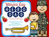 "Veterans Day ""Hero Dad"" Extension Activities"