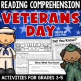 Veterans Day Activities Reading Comprehension and Writing Activity