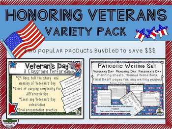 Veterans Day: Honoring Veterans Variety Pack - Writing Set and Class Performance