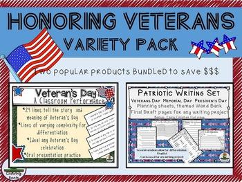 Veterans Day: Honoring Veterans Variety Pack - Writing Set