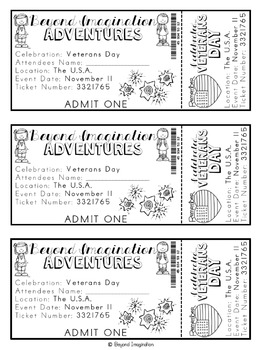Veterans Day Printable Booklet |48 Pages for Differentiated Learning Bonus Pages