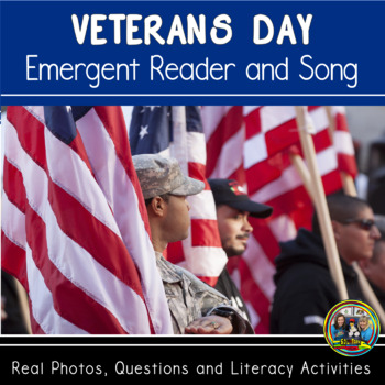 Veterans Day Interactive Book and Song with Comprehension Questions