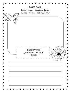 Veterans Day Journal Prompt