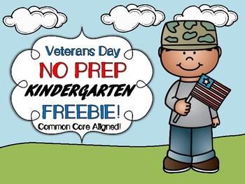 Veterans Day Kindergarten FREEBIE!
