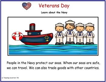 Veterans Day Kit for Kindergarten and First Grade