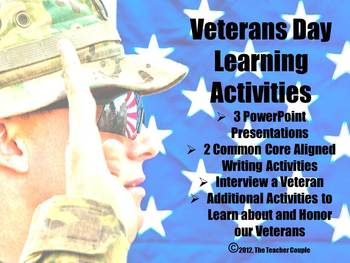 Veterans Day Learning Activities