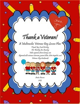 Veterans Day Lesson Plan - Thank A Veteran! Multimedia, Thank You Cards