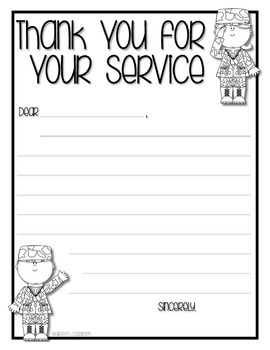 Veteran's Day Letter Writing Activity *FREEBIE*
