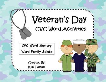 Veteran's Day Literacy Activities