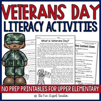Veterans Day Literacy Activities