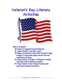 Veteran's Day Literacy Center Activities