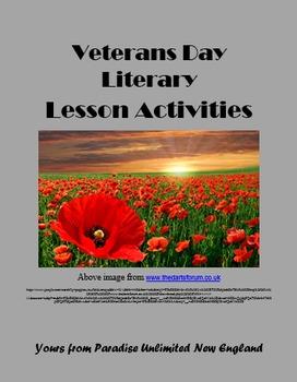 Veterans Day Literary Activities Gr. 9-12