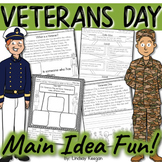 Veterans Day Main Idea and Details Activities