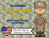Veterans Day Math & Literacy with Craftivities!