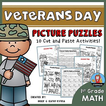 Veterans Day Math Picture Puzzles {1st Grade}