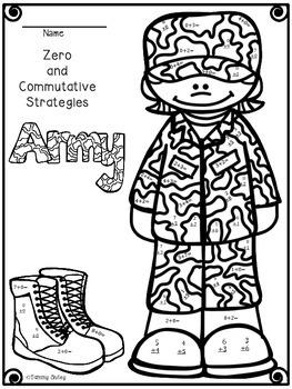 Veterans Day Math Strategies Printables