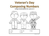 Veteran's Day Math Using Numbers 1-5