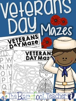 Veterans Day Mazes {Upper & Lower Case Letters, Numbers, & Pathway Mazes}