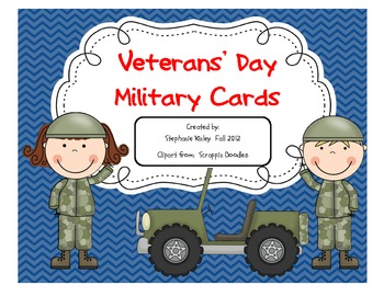 Veterans' Day Military Cards - ABC Order