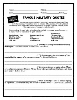 Veterans Day Military Quotes