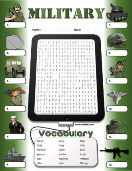 Veterans Day Military Vocabulary Activities
