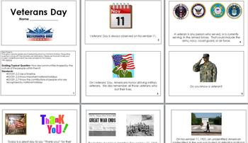 Veterans Day Mini Book