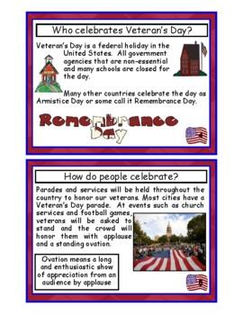 Veteran's Day Mini Book