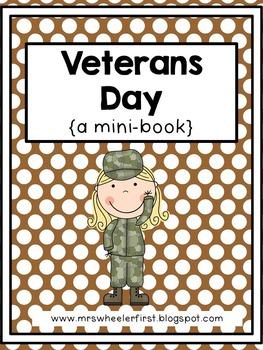 First Grade Mini-Book: Veterans Day