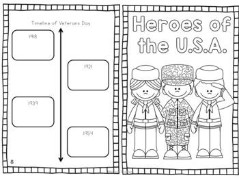 Veterans Day Mini Book Freebie for Grades 3-5