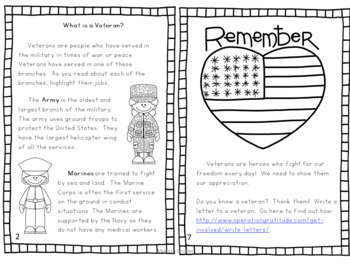 Veterans Day Mini Book Freebie