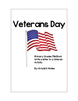 Veterans Day Mini Book and Letter Template for Primary Grades