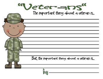 Veterans Day Mini Literacy and Math Unit