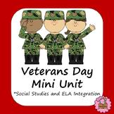 Veterans Day Activities -No Prep Mini Unit