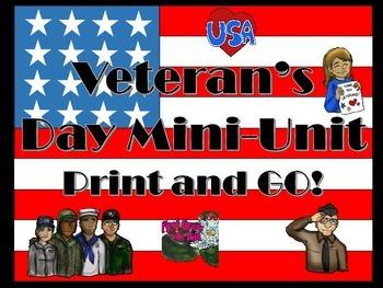 Veteran's Day Mini-Unit: One Day Print and Go!