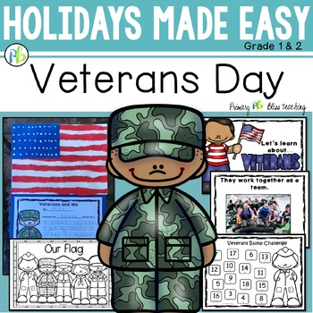 Veterans Day Mini Unit ~ Reading, Writing & Art Activities