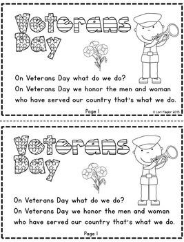 Veterans Day Minibook