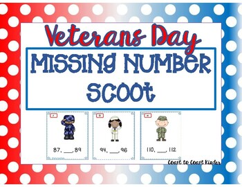 Veterans Day Missing Number Scoot