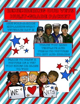 Veterans Day Mulit-Grade Packet - Mini-book and Activities