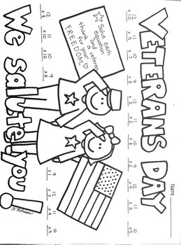 Veterans Day Multiplication