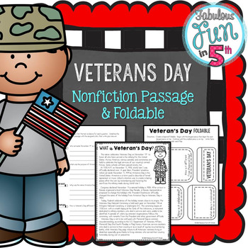 Veterans Day: Nonfiction Passage and Foldable