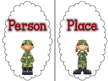 Veteran's Day Noun Sort Freebie