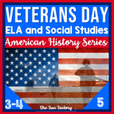 Veterans Day Literacy and Social Studies Activities 3rd, 4th, 5th Grades
