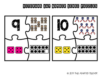 Veterans Day Number Sense Puzzles